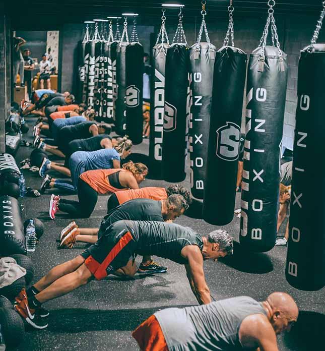 Sala de Boxing del Gimnasio Aqua Vilanova